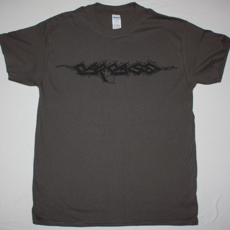 CARCASS LOGO NEW GREY T-SHIRT
