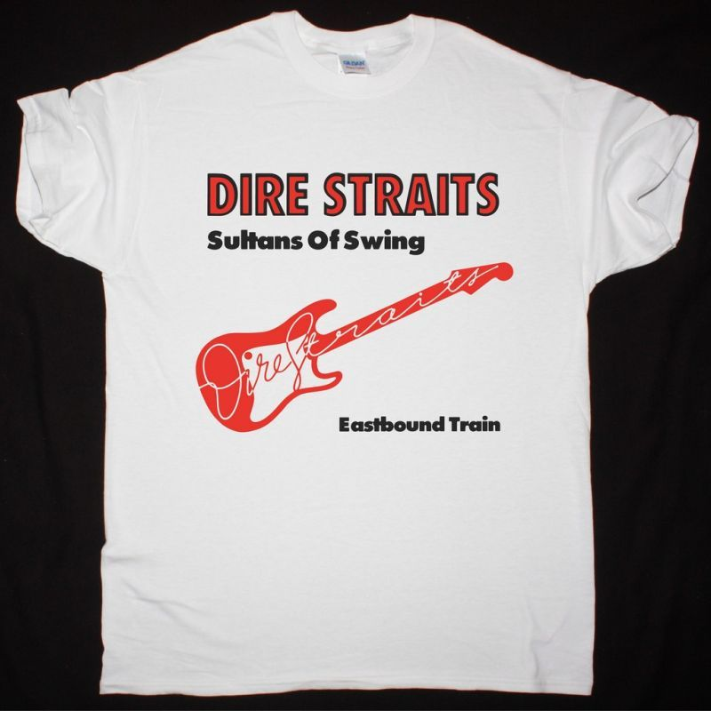 DIRE STRAITS SULTANS OF SWING NEW WHITE T-SHIRT