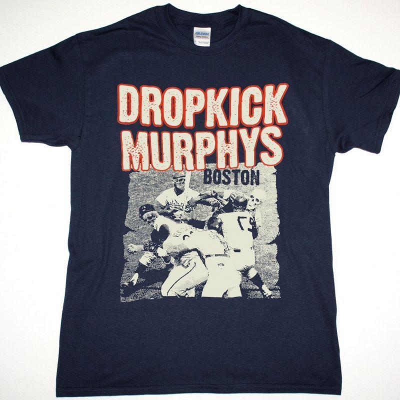 DROPKICK MURPHYS BOSTON NEW NAVY T SHIRT