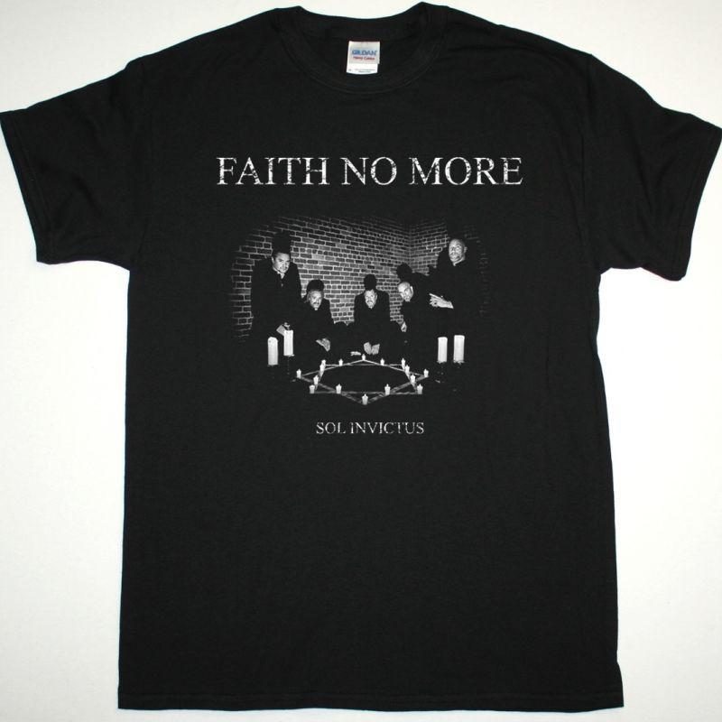 FAITH NO MORE BAND SOL INVICTUS NEW BLACK T-SHIRT