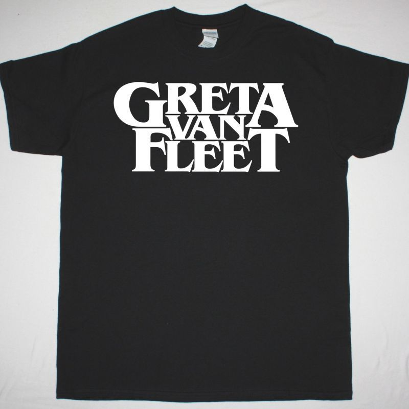 GRETA VAN FLEET LOGO TEE NEW BLACK T SHIRT