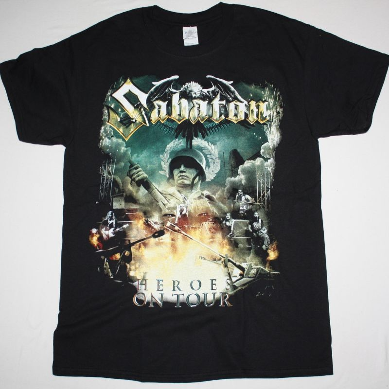 SABATON HEROES ON TOUR NEW BLACK T-SHIRT