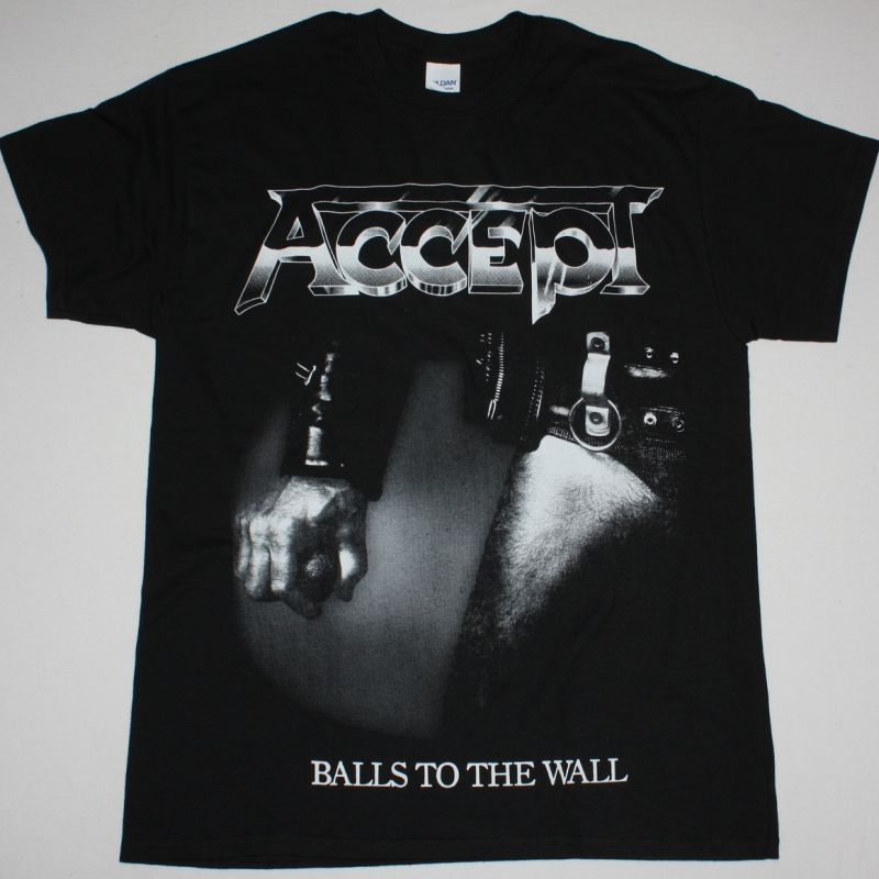 ACCEPT BALLS TO THE WALL 1983 NEW BLACK T-SHIRT