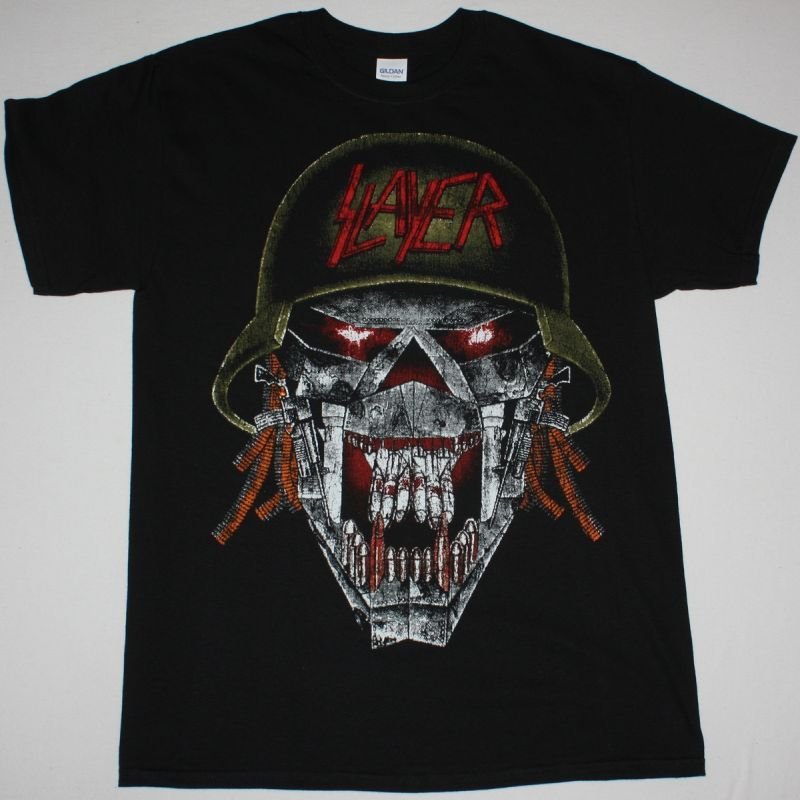 SLAYER SKULL SOLDIER NEW BLACK T SHIRT