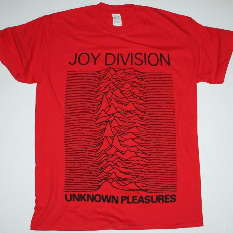 JOY DIVISION UNKNOWN PLEASURES NEW RED T-SHIRT