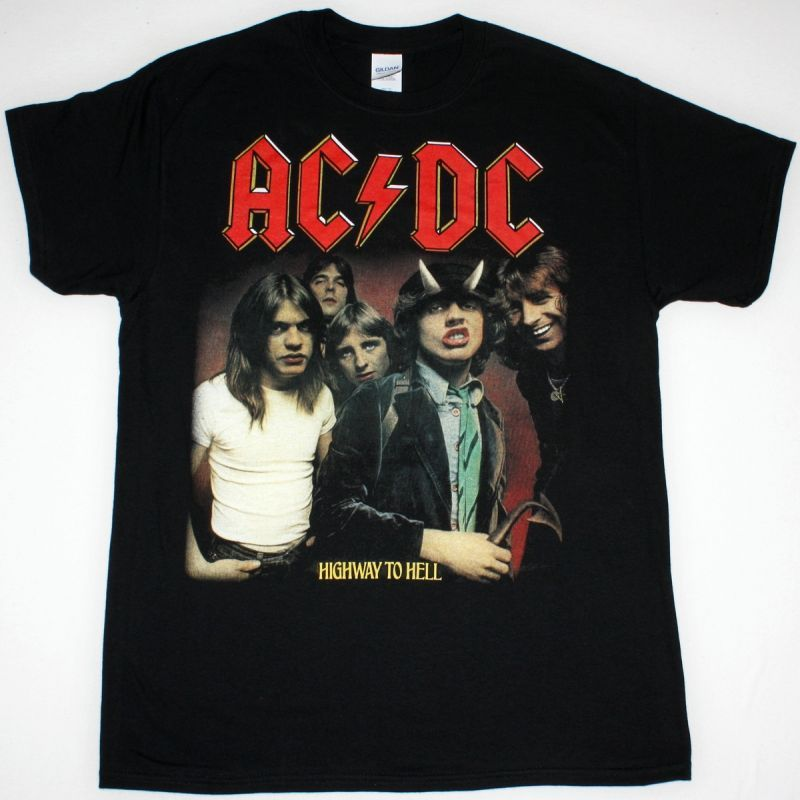 AC DC HIGHWAY TO HELL AC/DC NEW BLACK T-SHIRT