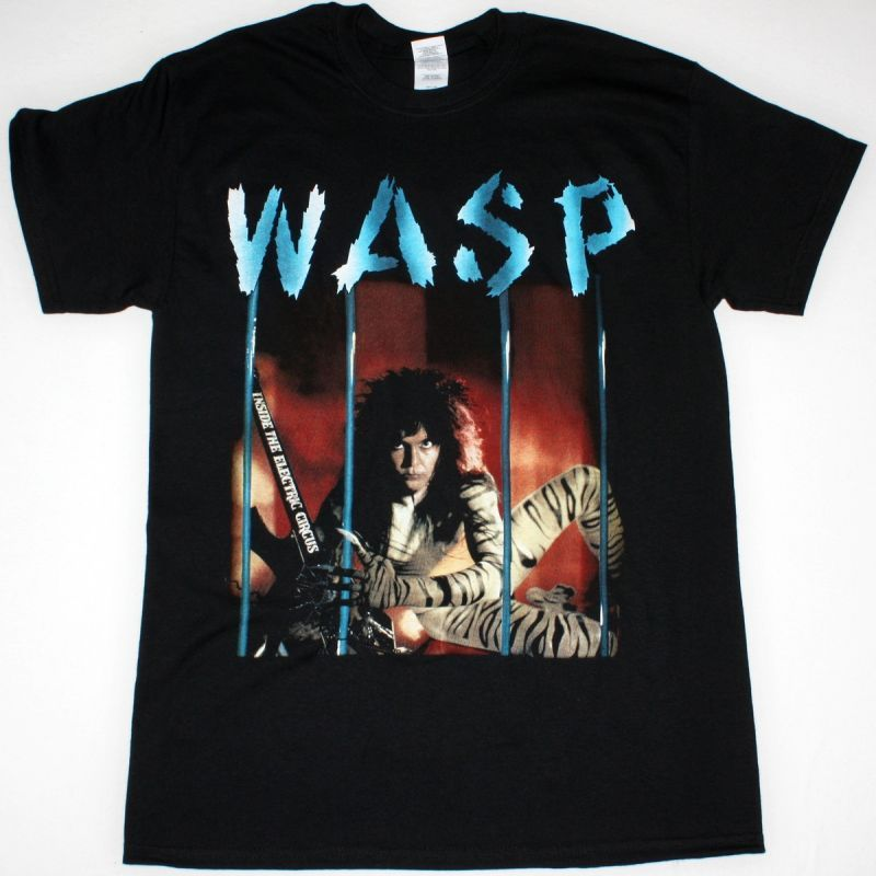 W.A.S.P. INSIDE THE ELECTRIC CIRCUS NEW BLACK T-SHIRT