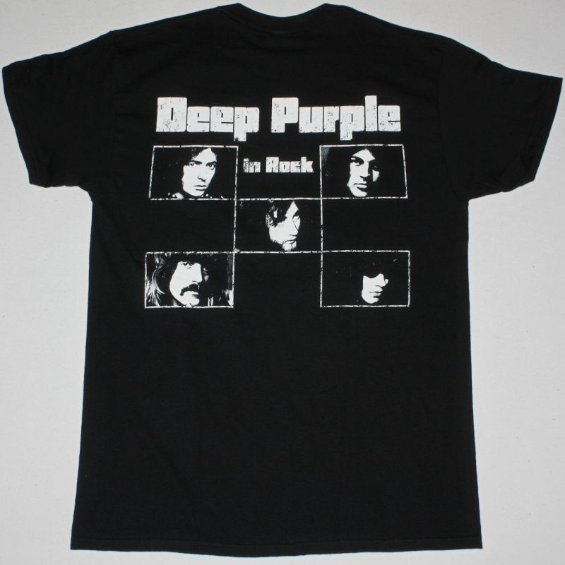 DEEP PURPLE IN ROCK NEW BLACK T-SHIRT
