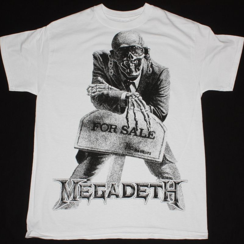 MEGADETH PEACE SELLS ... BUT WHO'S BUYING JUMBO PRINT NEW WHITE T-SHIRT