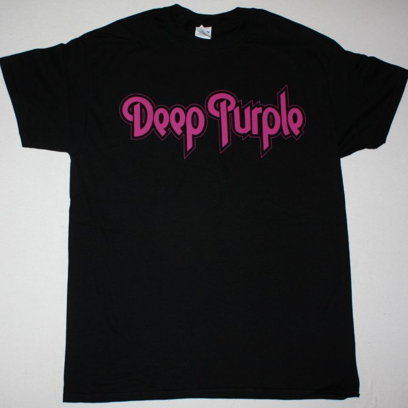 DEEP PURPLE PURPLE LOGO NEW BLACK T-SHIRT