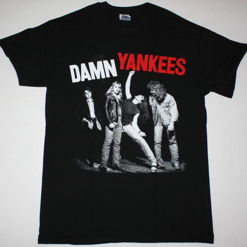 DAMN YANKEES DAMN YANKEES 1990 NEW BLACK T-SHIRT