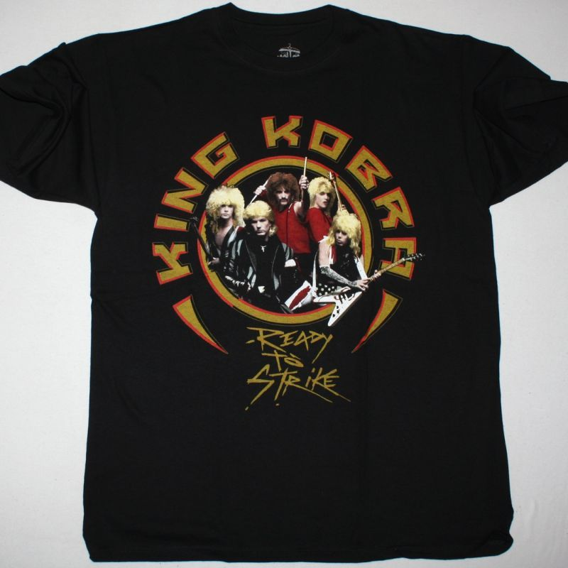 KING KOBRA READY TO STRIKE NEW BLACK T-SHIRT