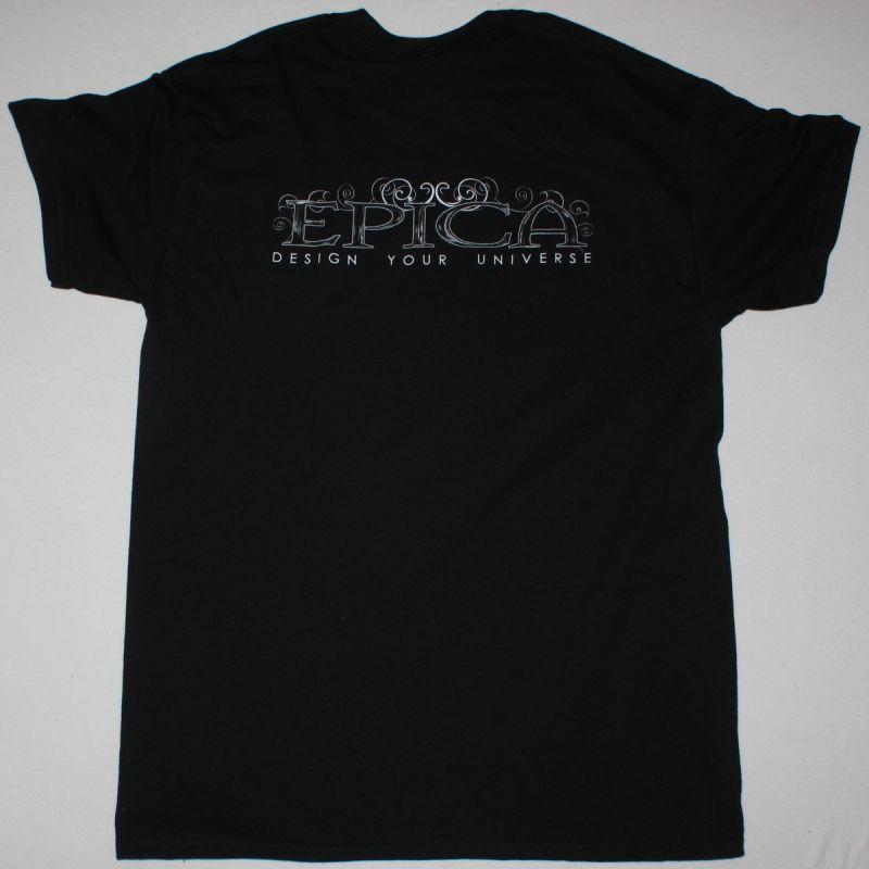 EPICA DESIGN YOUR UNIVERSE NEW BLACK T-SHIRT