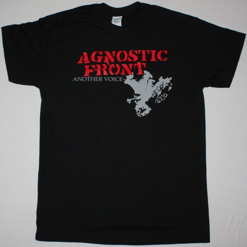 AGNOSTIC FRONT ANOTHER VOICE NEW BLACK T-SHIRT