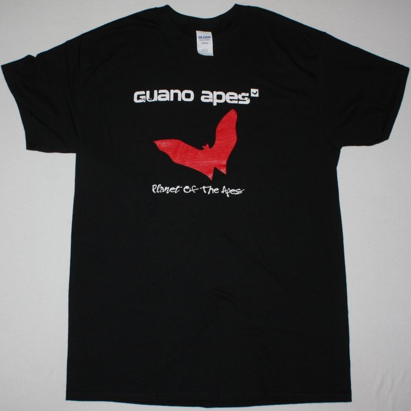 GUANO APES PLANET OF THE APES NEW BLACK T SHIRT