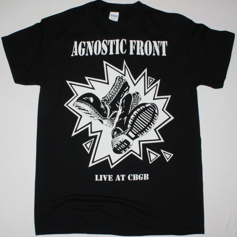 AGNOSTIC FRONT LIVE AT CBGB'S NEW BLACK T-SHIRT
