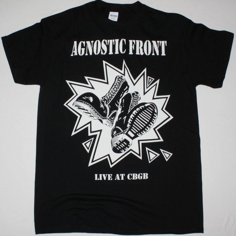 AGNOSTIC FRONT LIVE AT CBGB'S NEW BLACK T-SHIRT