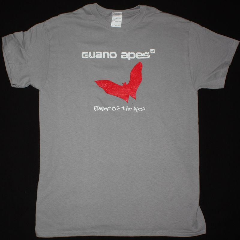 GUANO APES PLANET OF THE APES NEW LIGHT GREY T SHIRT