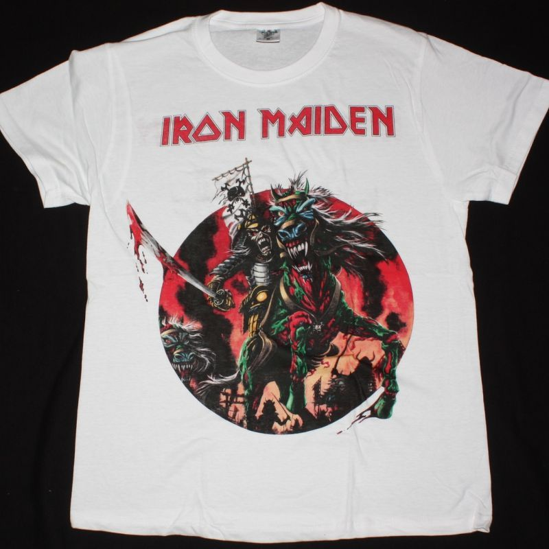 IRON MAIDEN THE HORSEMAN NEW WHITE T-SHIRT