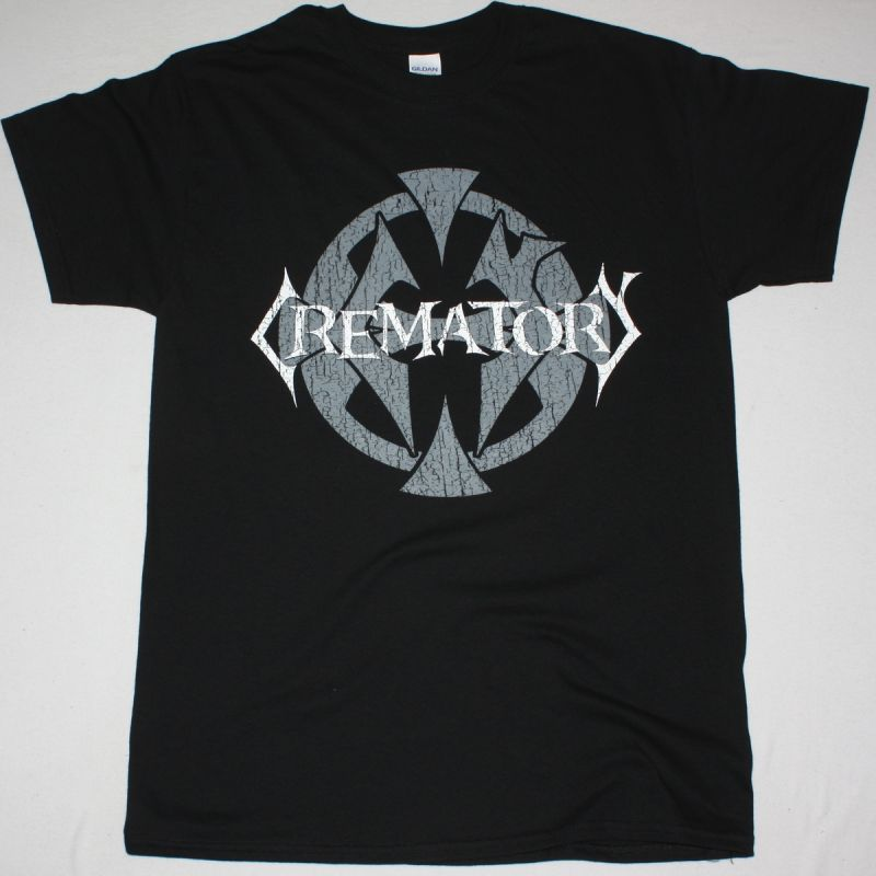 CREMATORY MONUMENT LOGO NEW BLACK T SHIRT
