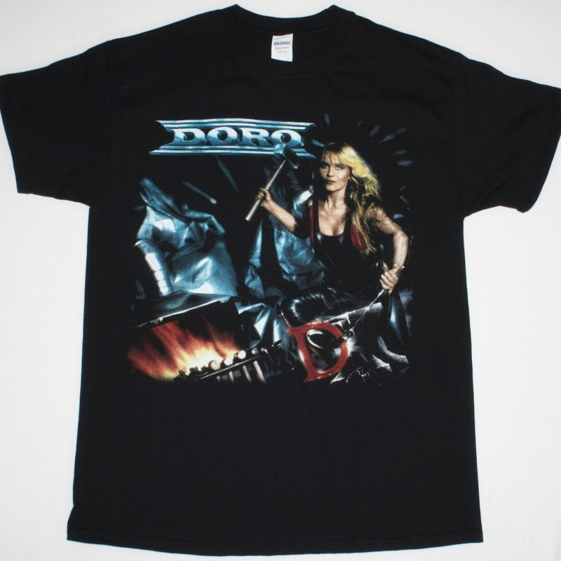 DORO FORCE MAJEURE '89 NEW BLACK T-SHIRT