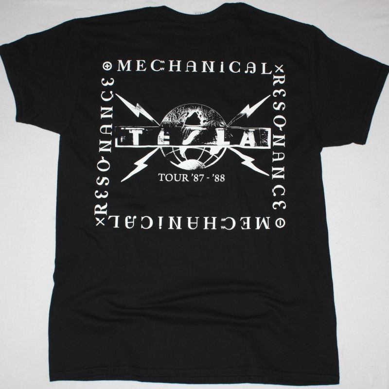 TESLA MECHANICAL RESONANCE NEW BLACK T-SHIRT