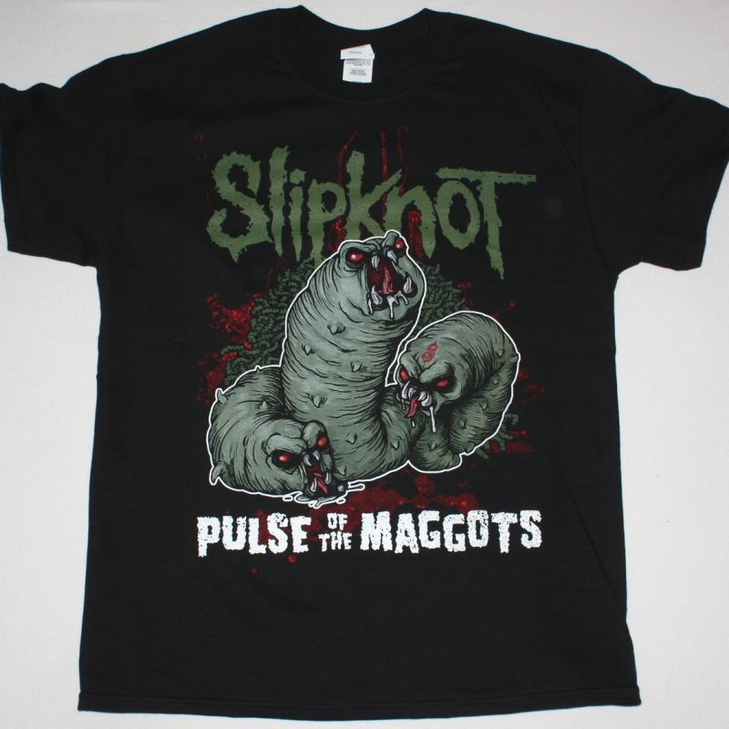 SLIPKNOT PULSE OF THE MAGGOTS NEW BLACK T-SHIRT
