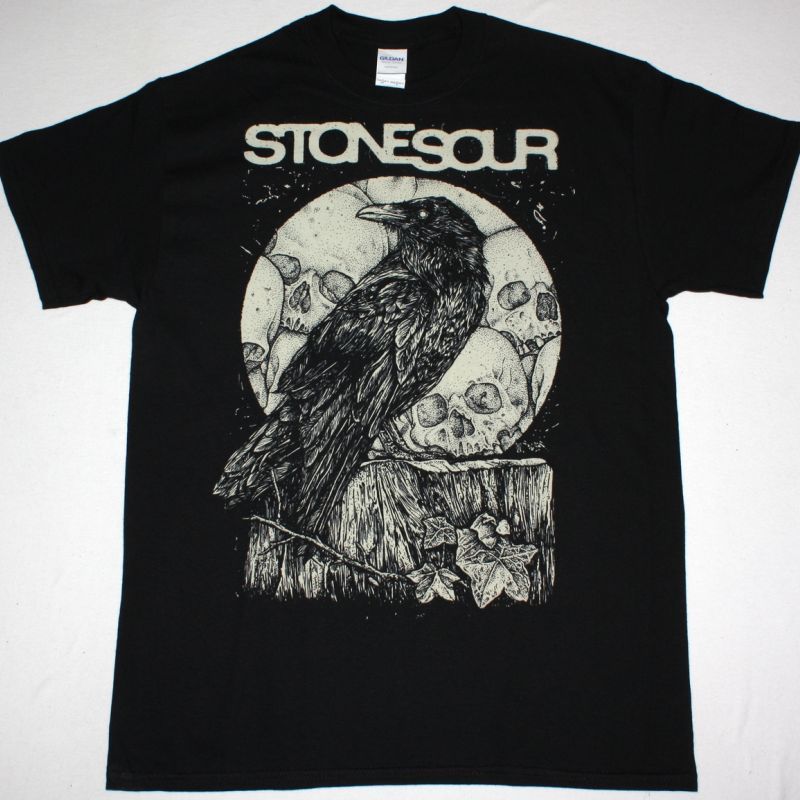 STONE SOUR CROW NEW BLACK T-SHIRT
