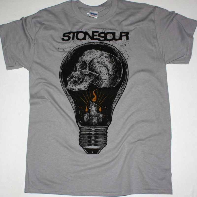 STONE SOUR LIGHTBULB NEW LIGHT GREY T-SHIRT