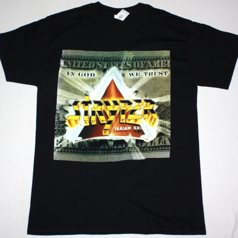 STRYPER IN GOD WE TRUST NEW BLACK T-SHIRT