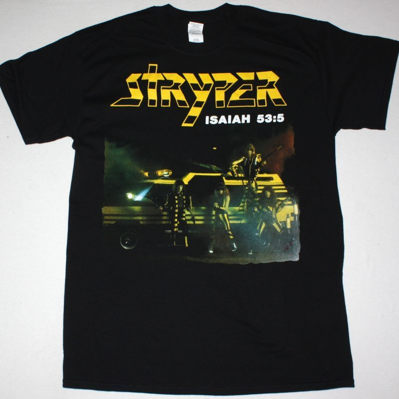STRYPER SOLDIERS UNDER COMMAND NEW BLACK T-SHIRT