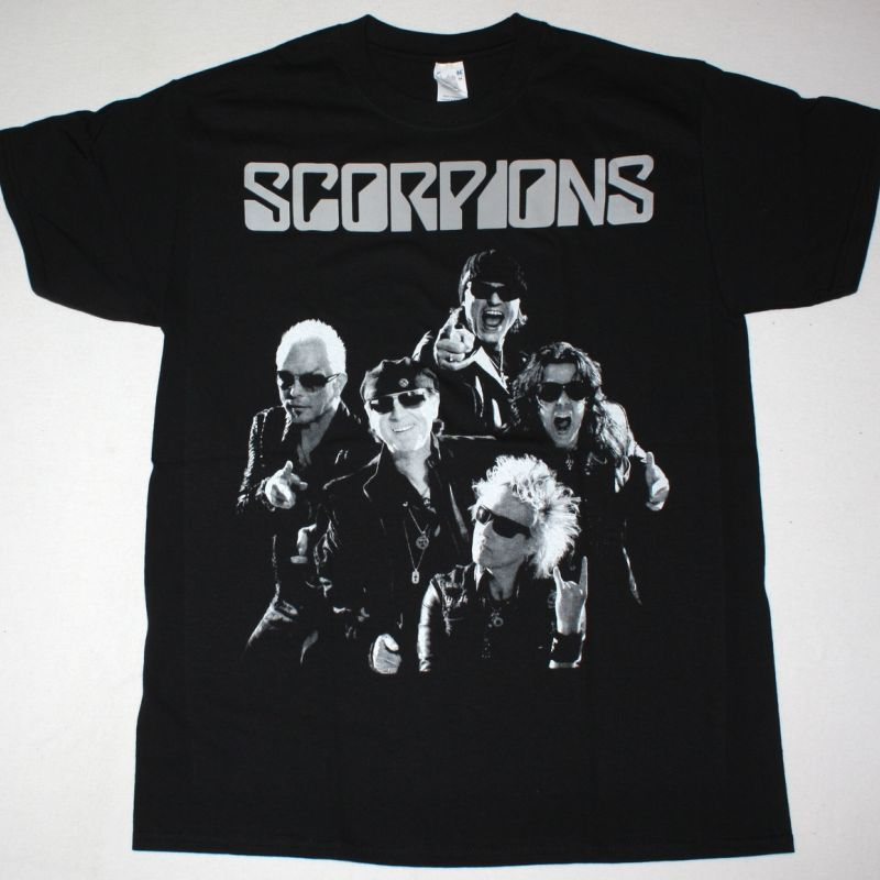 SCORPIONS BAND NEW BLACK T-SHIRT