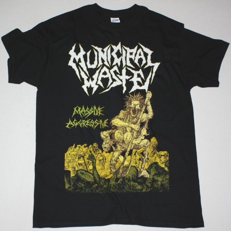 MUNICIPAL WASTE MASSIVE AGGRESSIVE 2009 NEW BLACK T-SHIRT
