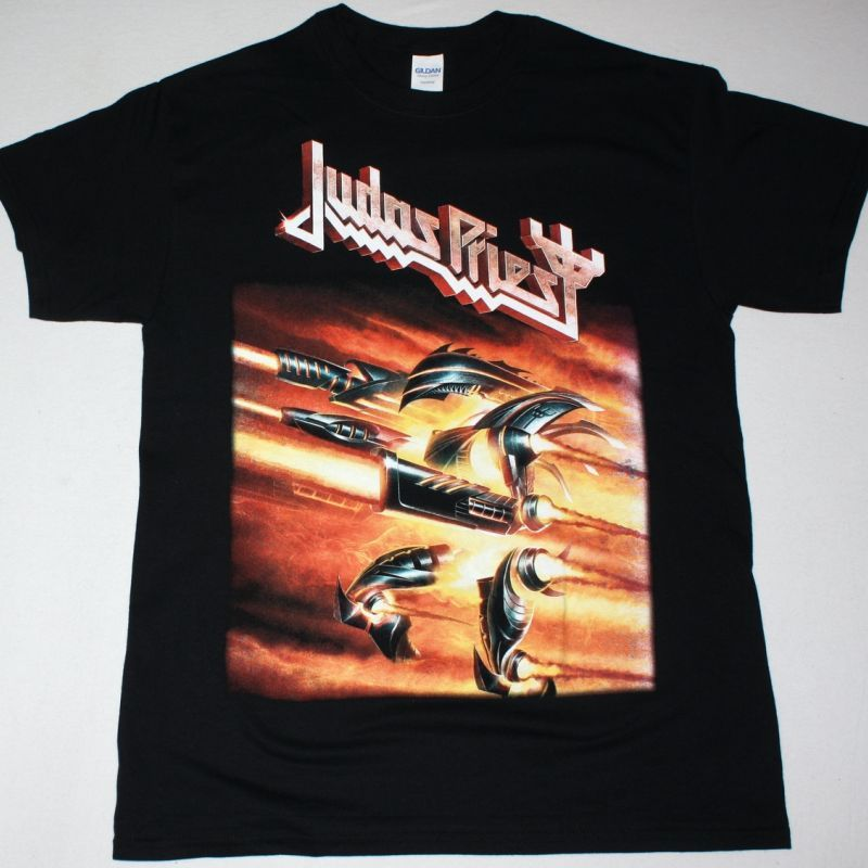 JUDAS PRIEST FIREPOWER NEW BLACK T-SHIRT