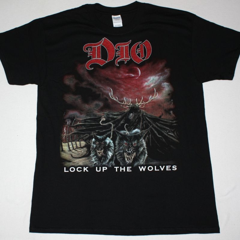 DIO LOCK UP THE WOLVES NEW BLACK T-SHIRT