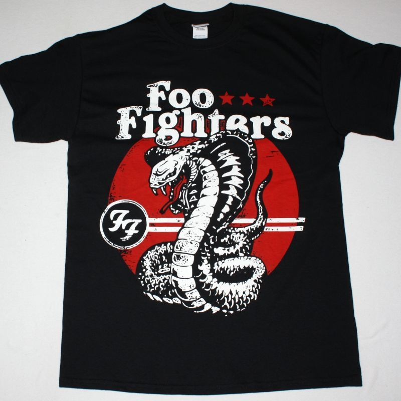 FOO FIGHTERS COBRA NEW BLACK T-SHIRT