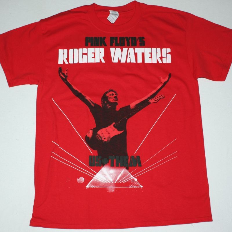 ROGER WATERS US+THEM TOUR 2018 NEW RED T-SHIRT