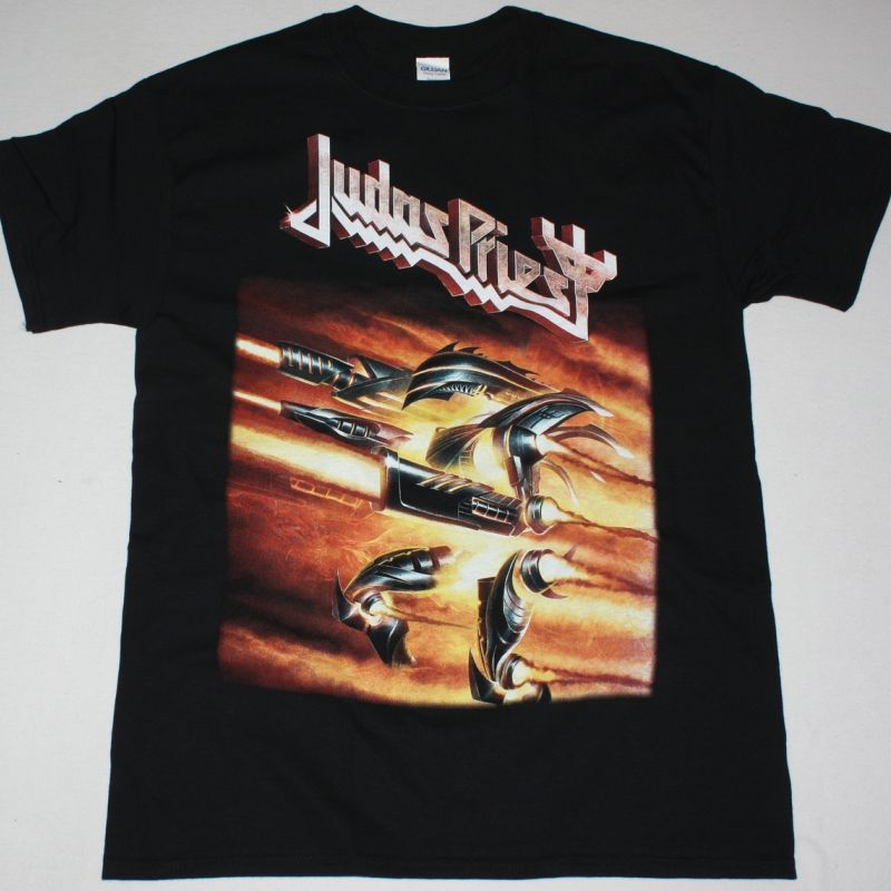 JUDAS PRIEST FIREPOWER TOUR 2018 NEW BLACK T-SHIRT