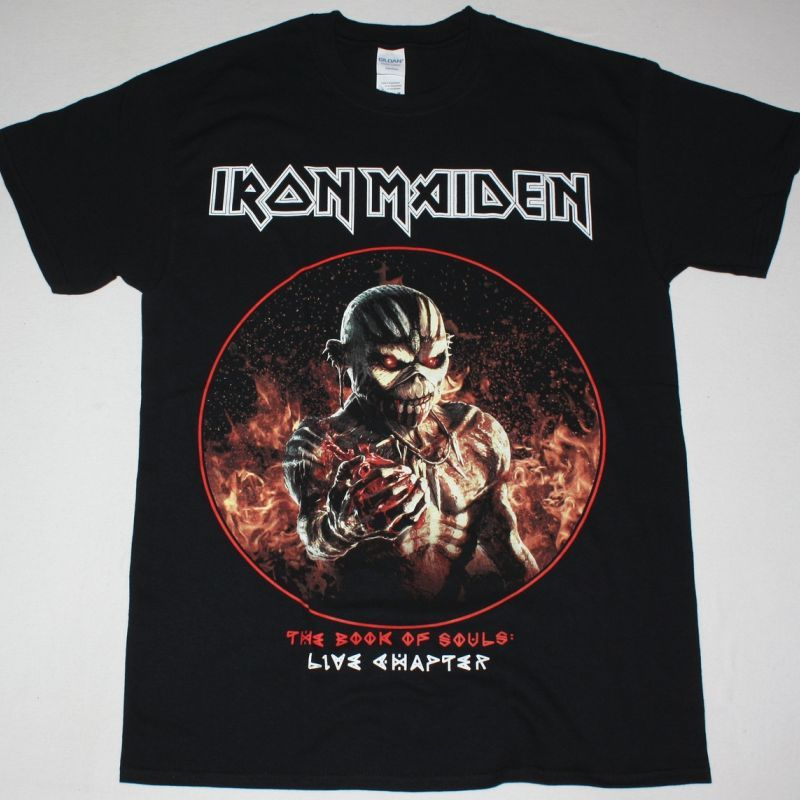 IRON MAIDEN THE BOOK OF SOULS LIVE CHAPTER NEW BLACK T SHIRT