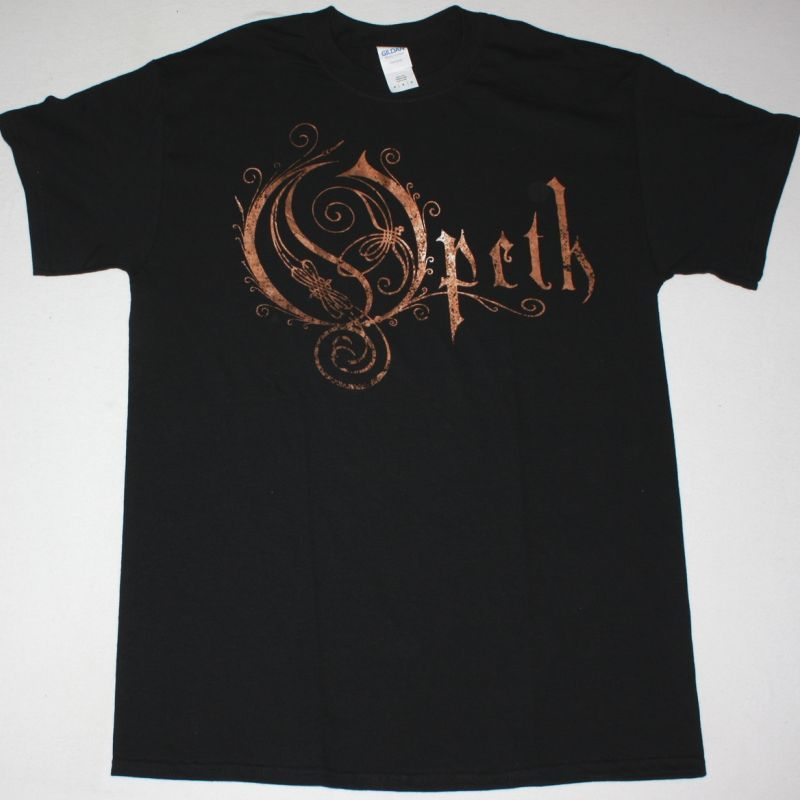 OPETH LOGO NEW BLACK T-SHIRT