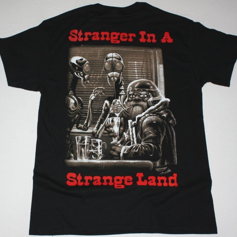 IRON MAIDEN STRANGER IN A STRANGE LAND NEW BLACK T SHIRT