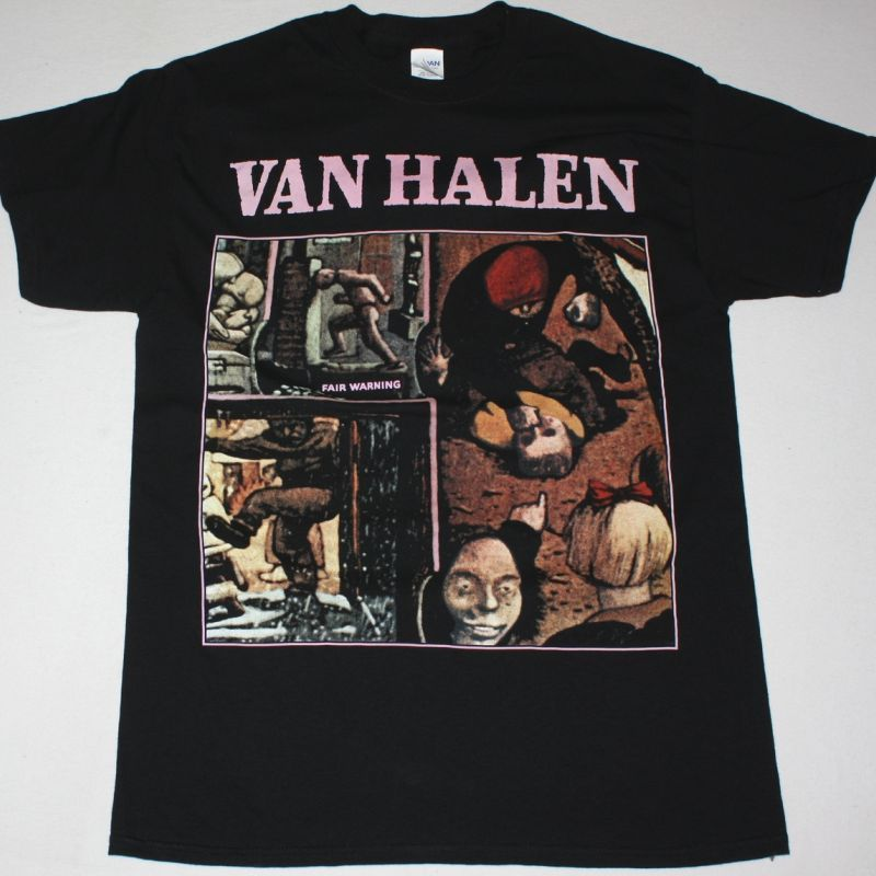 VAN HALEN FAIR WARNING NEW BLACK T-SHIRT