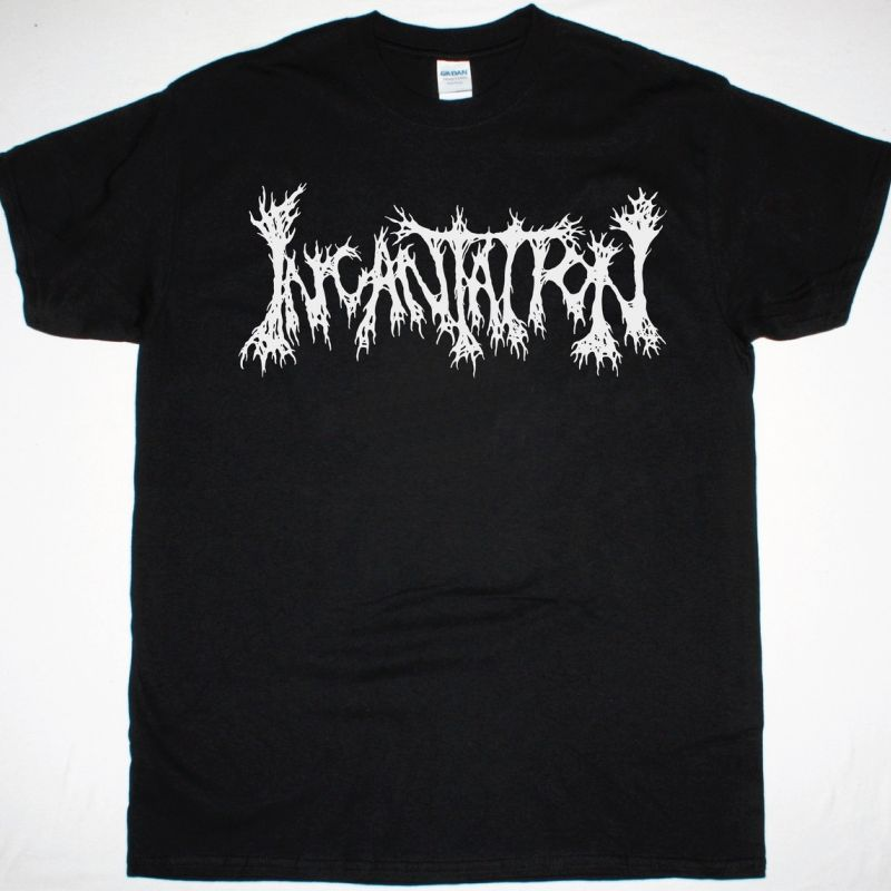 INCANTATION LOGO NEW BLACK T-SHIRT
