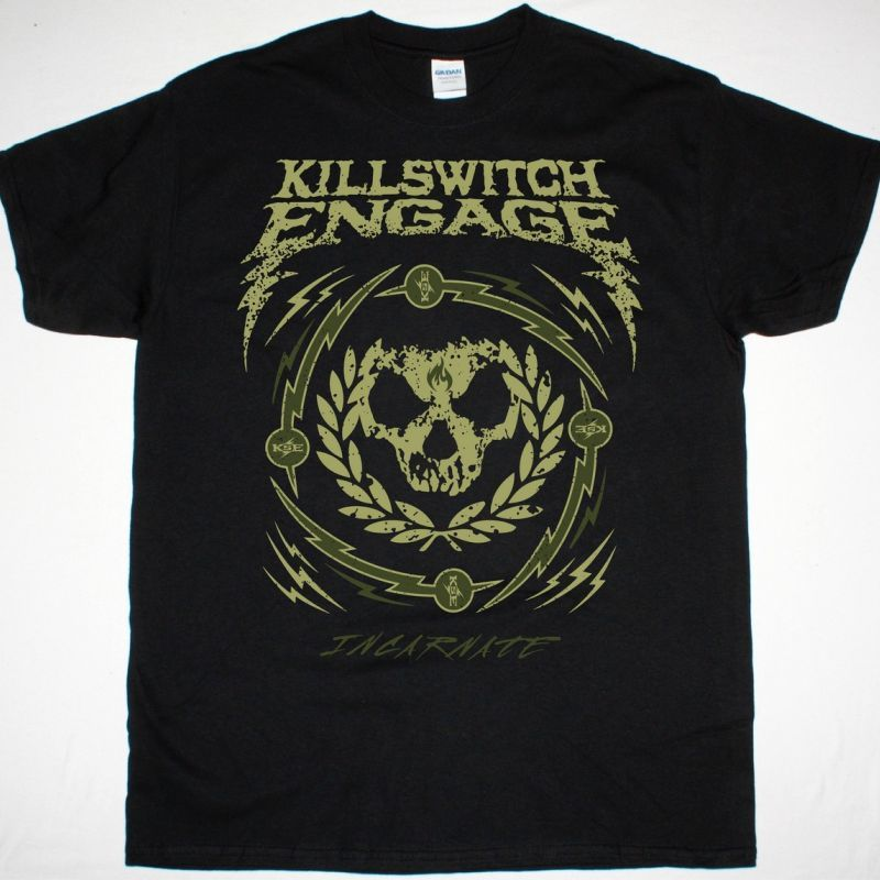 KILLSWITCH ENGAGE SKULL WREATH NEW BLACK T SHIRT