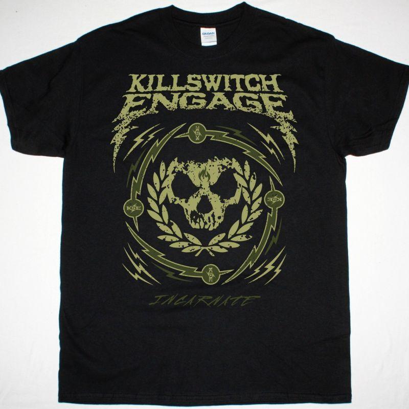 KILLSWITCH ENGAGE SKULL WREATH NEW BLACK T SHIRT