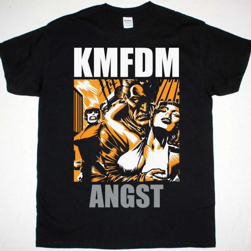 KMFDM ANGST NEW BLACK T SHIRT