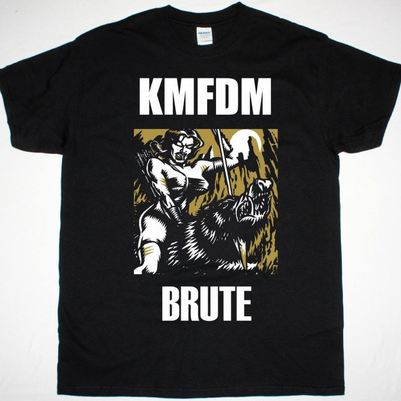 KMFDM BRUTE NEW BLACK T SHIRT