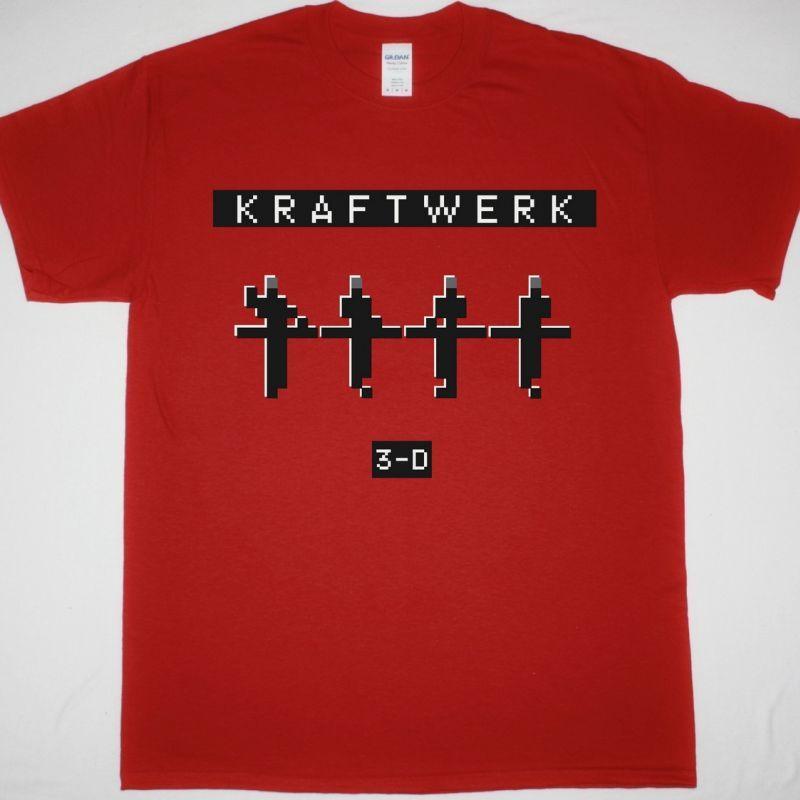 KRAFTWERK 3D CONCERTS NEW RED T-SHIRT
