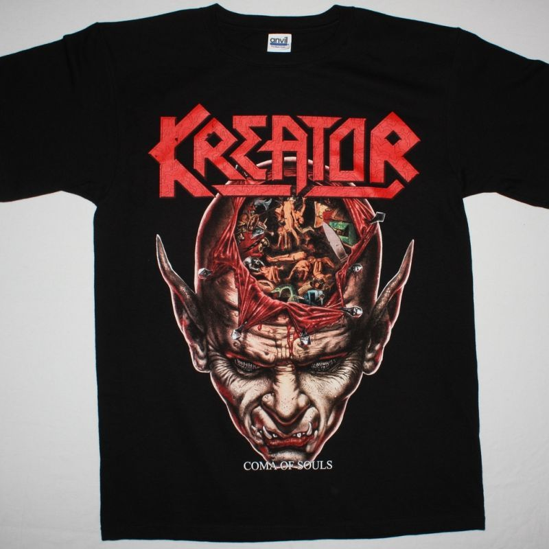 KREATOR COMA OF SOULS'90  NEW BLACK T-SHIRT