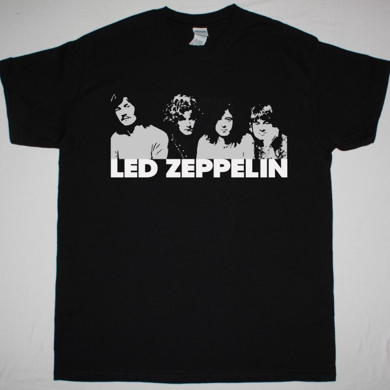 LED ZEPPELIN FIRST AMERICAN TOUR NEW BLACK T SHIRT